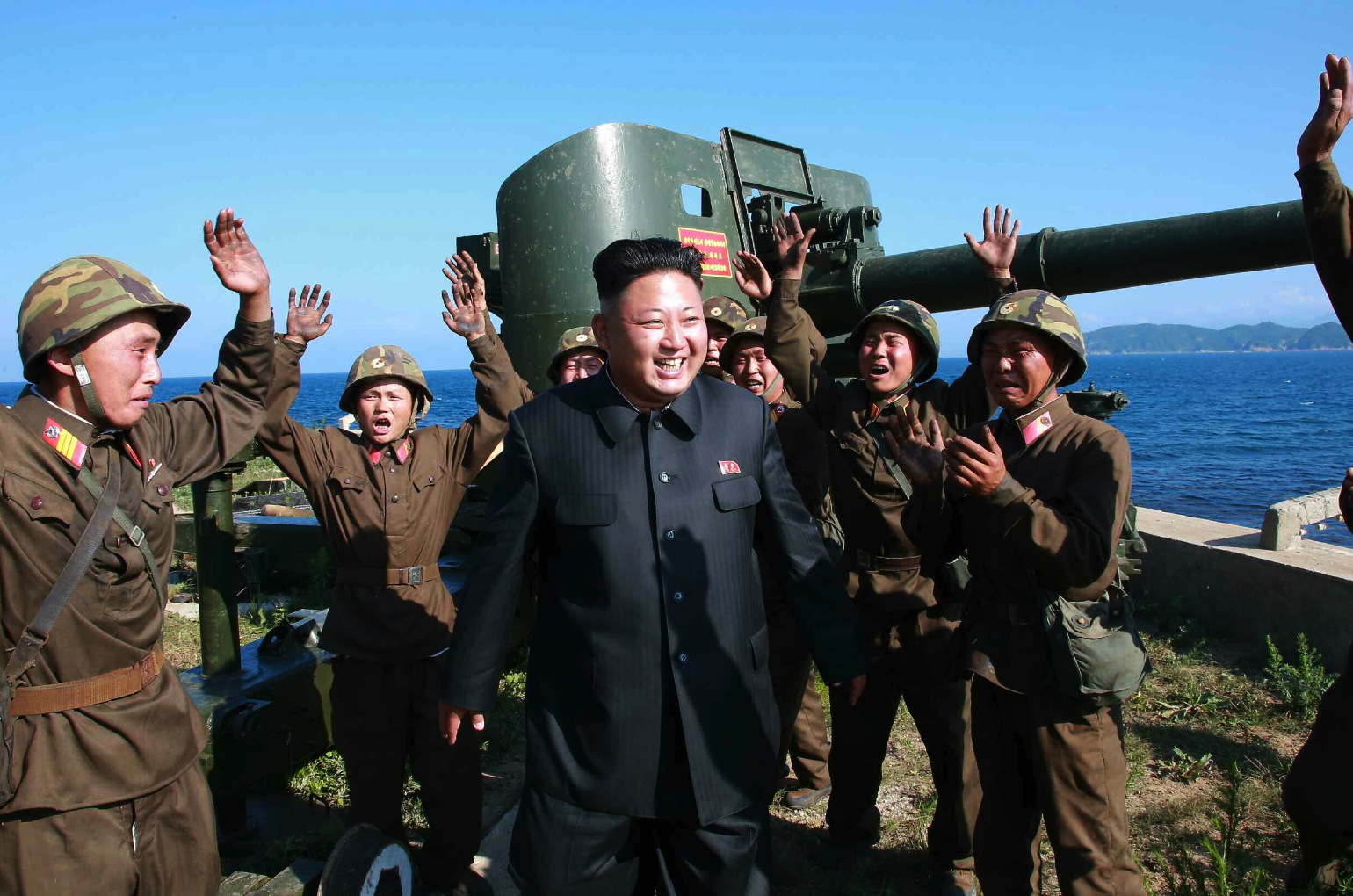 Kim Jong Un inspects the Ung Islet Defense Detachment (Photo: Rodong Sinmun).