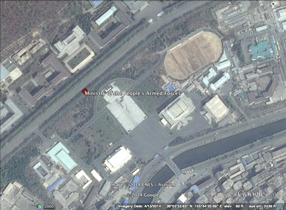 Ministry of the People's Armed Forces complex in Pyongyang (Photo: Google image).