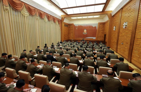 A view of the venue of the expanded CMC meeting (Photo: Rodong Sinmun).