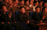 Kim Jong Un attends a concert by the Kim Il Sung Socialist Youth League Art Propaganda Squad (Photo: Rodong Sinmun).