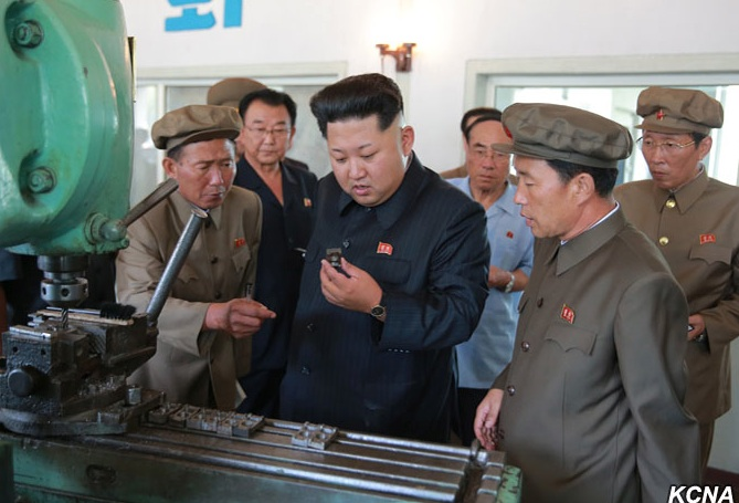 Kim Jong Un inspects products of the Sinu'iju Measuring Instruments Factory (Photo: KCNA).