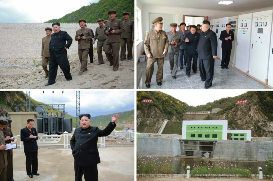 Kim Jong Un inspects a generator and transformer station that are part of the Paektusan Youth Power Station (Photo: Rodong Sinmun).