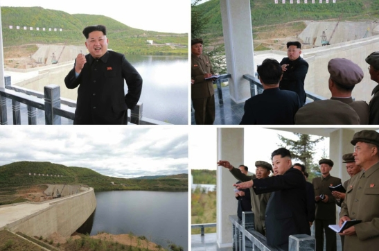Kim Jong Un inspects the Paektusan Youth Power Station (Photo: Rodong Sinmun).