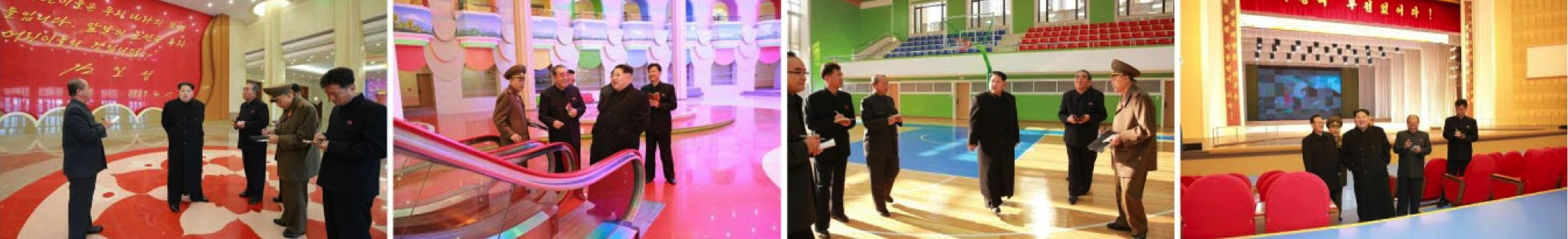 Kim Jong Un tours the renovated Mangyo'ngdae Schoolchildren's Palace (Photos: Rodong Sinmun/KCNA).