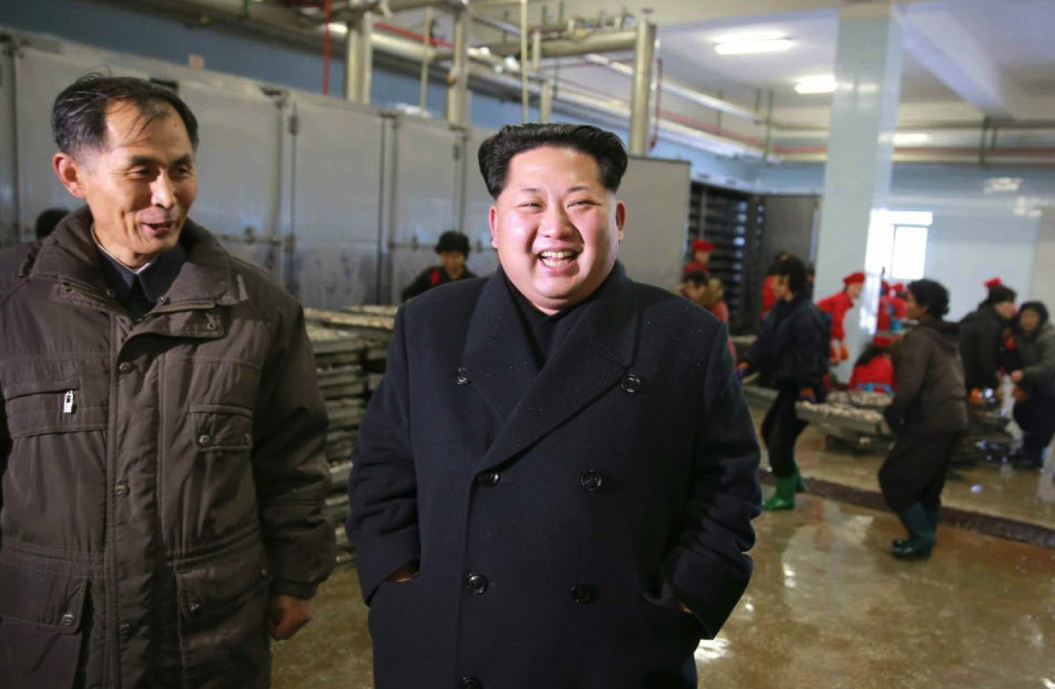 Kim Jong Un visits the August 25 Fishery Station under KPA Unit #313 (Photo: Rodong Sinmun).