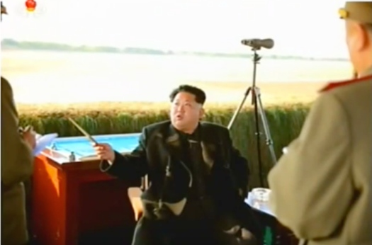 Kim Jong Un speaks with senior command staff of the KPA Air and Anti-Air Force (Photo: KCTV screen grab).