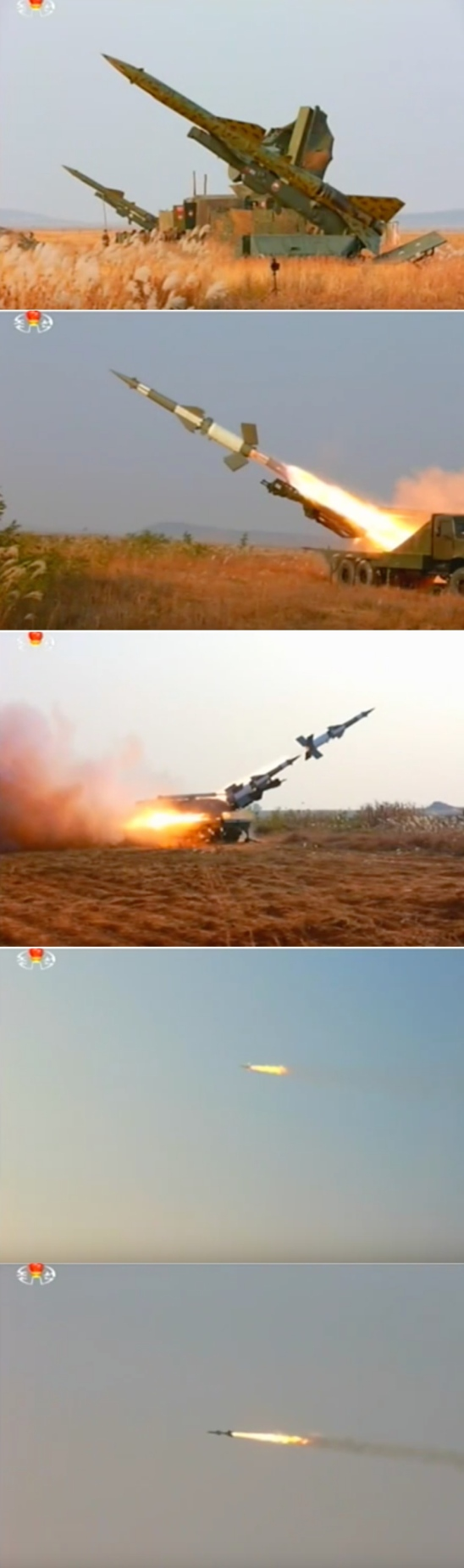 View of anti-air rocket pieces deployed for the exercise (Photo: KCTV screen grab).