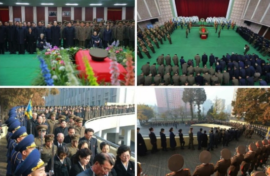 Ri Ul Sol's funeral at the Central Hall of Workers in Pyongyang on November 11, 2015 (Photos: Rodong Sinmun).