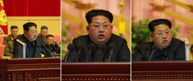 Kim Jong Un delivers a speech at the 7th National Meeting of Military Education Officers. In his remarks Kim emphasized the role of the party's management of DPRK military policies and the KPA's role in developing the DPRK economy (Photos: Rodong Sinmun).