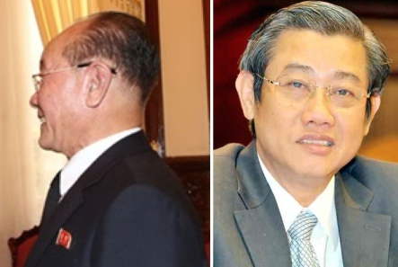 Jang Pyong Gyu (left) met with Ho Chi Ming City People's Committee Vice Chair Hứa Ngọc Thuận (right) during a visit to HCMC on December 3, 2015 (Photos: VNA).