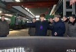 DPRK Premier Pak Pong Ju tours the Taean Heavy Machine Complex in Namp'o, South P'yo'ngan Province (Photo: KCNA).