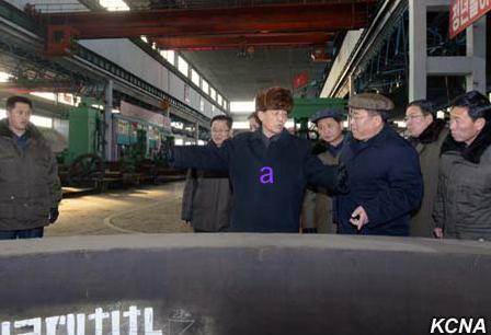 DPRK Premier Pak Pong Ju tours the Taean Heavy Machine Complex in Namp'o, South P'yo'ngan Province (Photo: KCNA).