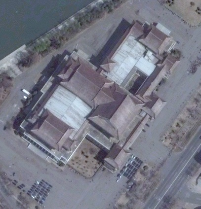 The People's Palace of Culture in central Pyongyang (Photo: Digital Globe).