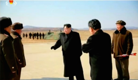 Kim Jong Un discusses a weapons test with senior WPK and KPA officials (Photo: KCTV screen grab).