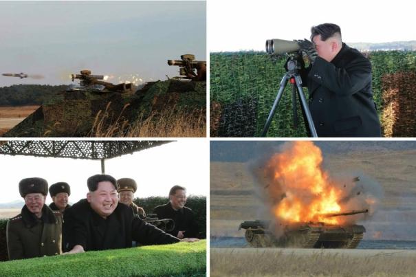 Kim Jong Un observes testing of anti-tank weapons (Photos: KCNA/Rodong Sinmun).