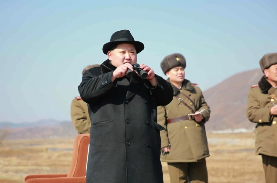 Kim Jong Un watches a combat aviation drill by the KPA Air and Anti-Force (Photos: Rodong Sinmun).