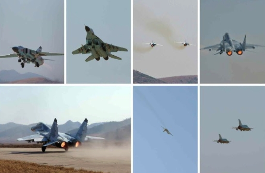 KPA Air and Anti-Air Force planes (Photos: Rodong Sinmun).