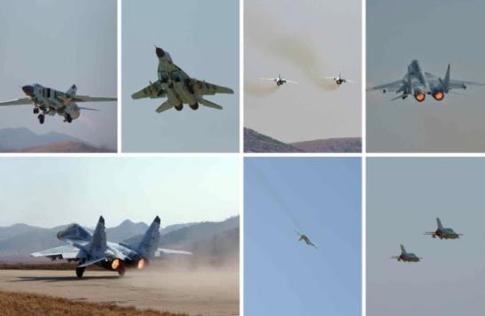 KPA Air and Anti-Air Force planes (Photos: Rodong Sinmun).