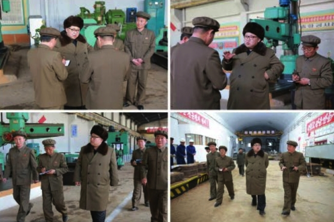 Kim Jong Un tours the Feburary 11 Plant of the Ryongso'ng Machine Complex (Photos: Rodong Sinmun/KCNA).