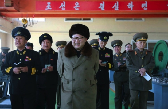 Kim Jong Un tours the October 3 Factory of the KPA Navy (Photo: Rodong Sinmun).