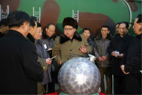 Kim Jong Un tours a facility and meets with senior Workers' Party of Korea and Korean People's Army personnel involved in the development and production of nuclear weapons (Photo: Rodong Sinmun).