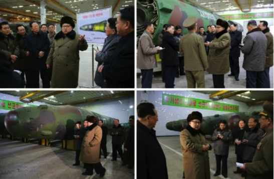 Kim Jong Un tours a facility near Pyongyang and meets with senior functionaries, researchers and other personnel involved in the DPRK's nuclear weapons program (Photos: Rodong Sinmun/KCNA).