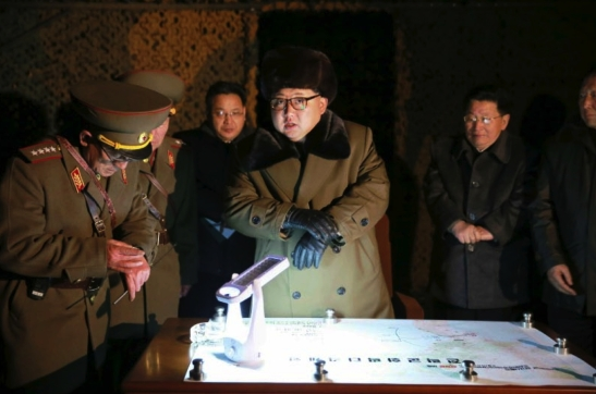 Kim Jong Un supervises a mobile ballistic missile drill (Photo: Rodong Sinmun).