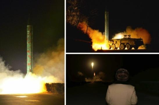 A mobile ballistic missile drill (Photos: Rodong Sinmun/KCNA).