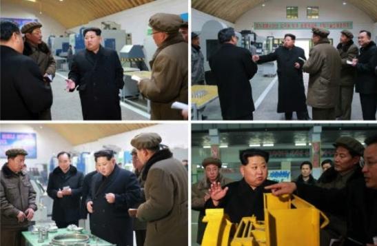 Kim Jong Un tours T'aeso'ng Machine Factory (Photos: Rodong Sinmun/KCNA).
