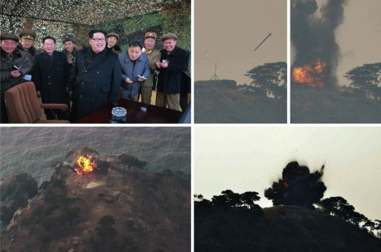 Kim Jong Un commands and observes the MLRS test firing (Photos: Rodong Sinmun/KCNA).