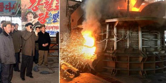 DPRK Premier Pak Pong Ju visits Ch'o'lima Steel Complex (Photos: Rodong Sinmun/KCNA).
