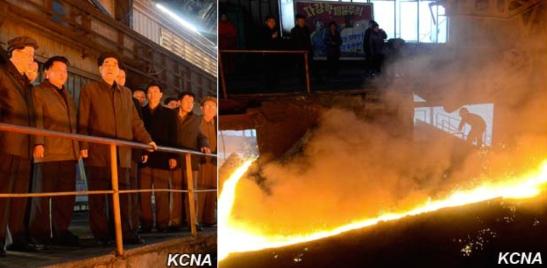 DPRK Premier Pak Pong Ju visits Hwanghae Iron and Steel Complex (Photos: KCNA).