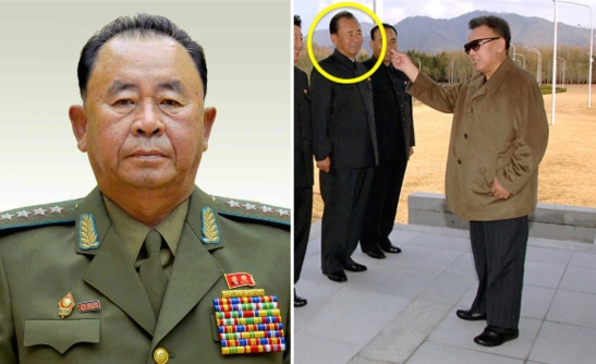Former air force commander and Senior Deputy Director of the OGD Ri Pyong Chol. At right Ri Pyong Chol attends Kim Jong Il's first confirmed public appearance following the late leader's stroke in 2008 (Photos: Rodong Sinmun/NK Leadership Watch file photo).
