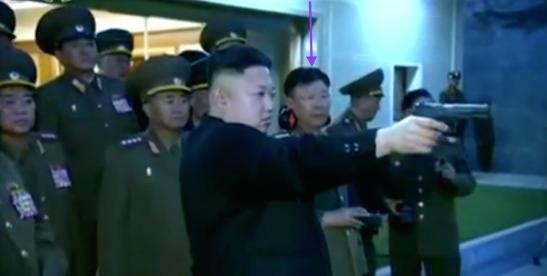 Ri Yong Gil attending a shooting contest with senior KPA officials (Photo: KCTV screengrab).