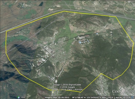 T'aeso'ng Machine Factory (Tae-sung Machine Factory; Thaesong Machine Factory) between Pyongyang and Namp'o (Photo: Google image).