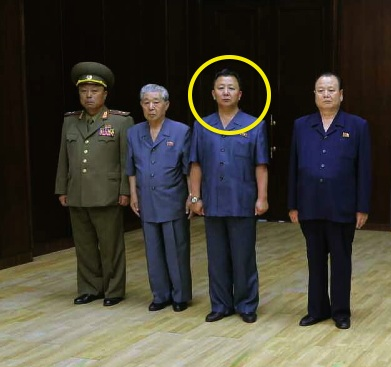 Jo Chun Ryong (annotated) attends Jon Pyong Ho's wake in July 2014 (Photo: Rodong Sinmun).