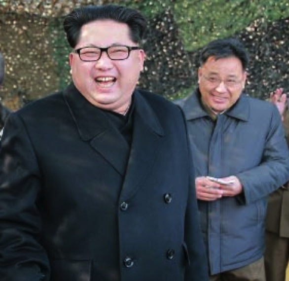 Kim Jong Sik with Kim Jong Un in March 2016 (Photo: NK Leadership Watch file photo).