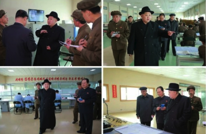 Kim Jong Un tours the machine plant managed by Ri Chol Ho (Photos: Rodong Sinmun/KCNA).