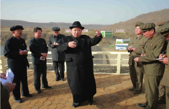 Kim Jong Un visits the Paektusan Hero Youth Power Station #3 (Photo: Rodong Sinmun).