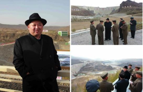 Kim Jong Un tours Paektusan Hero Youth Power Station #3 (Photos: KCNA/Rodong Sinmun).