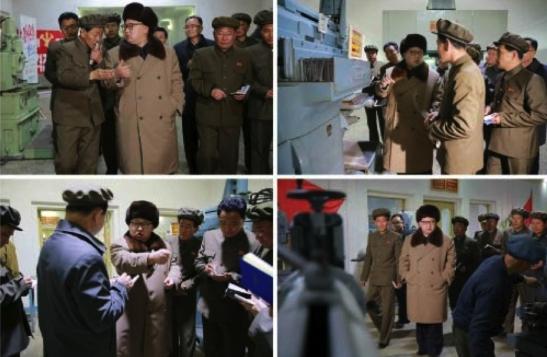 Kim Jong Un tours the Sinhu'ng Machine Plant in Hamhu'ng, South Hamgyo'ng Province (Photos: Rodong Sinmun/KCNA).