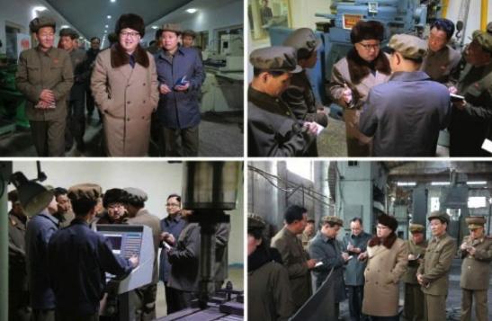 Kim Jong Un tours the Sinhu'ng Machine Plant (Photos: Rodong Sinmun/KCNA).