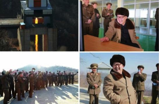Kim Jong Un supervises the test of an ICBM engine (Photos: Rodong Sinmun/KCNA).