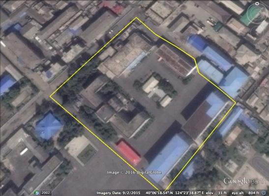 North P'yo'ngan WPK Provincial Committee office complex in Sinu'iju (Photo: Google image).