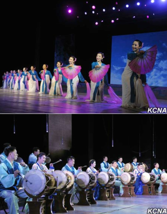 Performances by DPRK artists at the opening ceremony for the 30th Spring Friendship Arts Festival at the East Pyongyang Grand Theater on March 11, 2016 (Photos: KCNA).