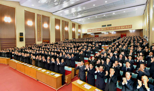 Party representatives attend the North Hwanghae party conference (Photo: KCNA).