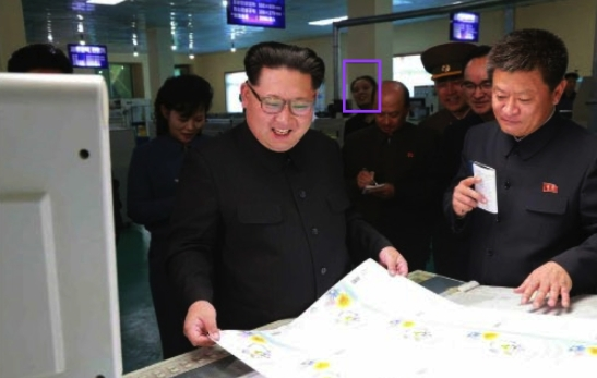 Kim Yo Jong (annotated), Jong Un's younger sister and a member of the core leadership, attends his visit to the Mindulle Notebook Factory (Photo: Rodong Sinmun).