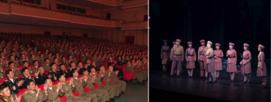 7the Party Congress participants watch a performance of the opera Victory of the Revolution Is in Sight at Pyongyang Grand Theater on May 4, 2016 (Photo: Rodong Sinmun).