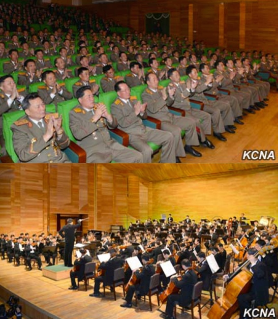7th Party Congress participants watch a performance of Ode to the Party at Moranbong Theater in Pyongyang on May 4, 2016 (Photo: KCNA).