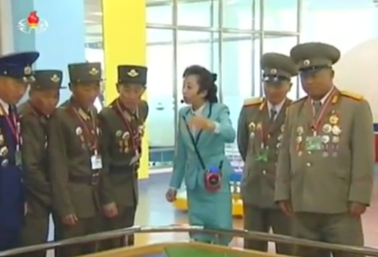 Participants in the Seventh Congress of the Workers' Party of Korea tour the Sci Tech Complex on May 5, 2016 (Photo: Korean Central TV).
